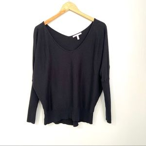 Victoria's Secret Black Dolman Sleeve Sweater XS